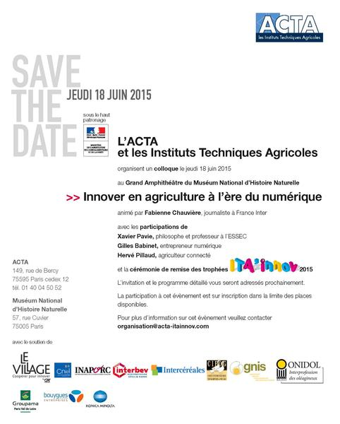 save the date ITA'Innov 2015